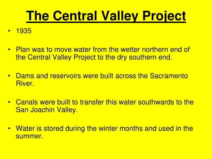 The Central Valley Project