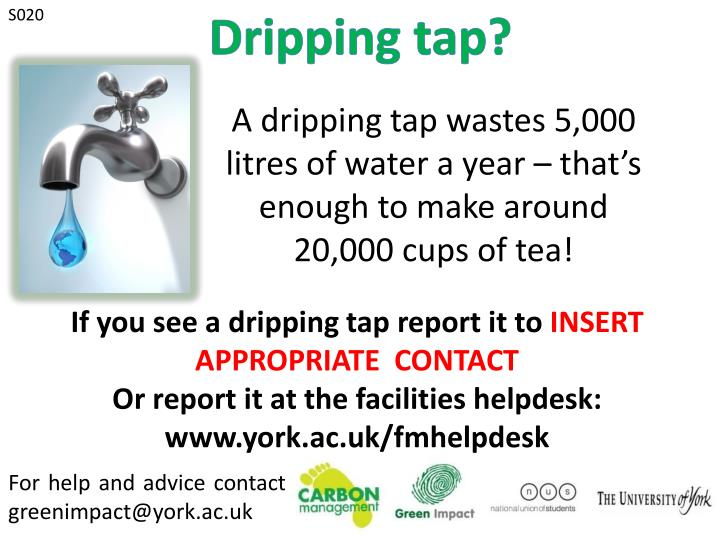 Dripping tap?