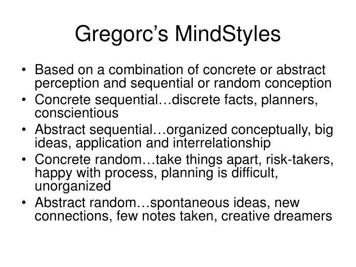 Gregorc's MindStyles