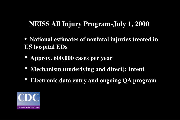 NEISS All Injury Program-July 1, 2000