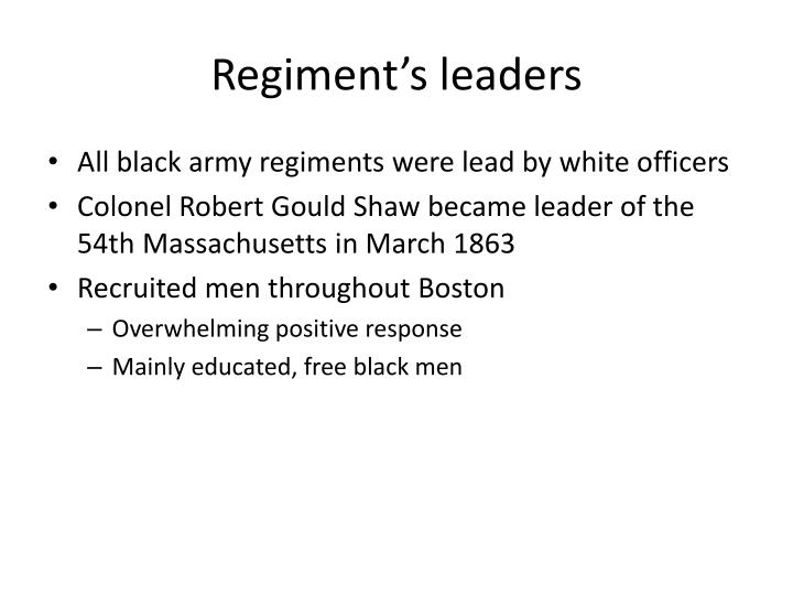 Regiment s leaders