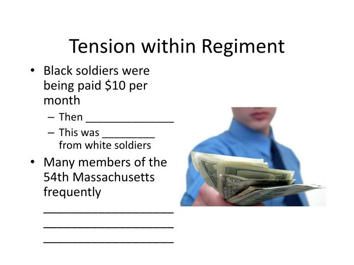 Tension within Regiment