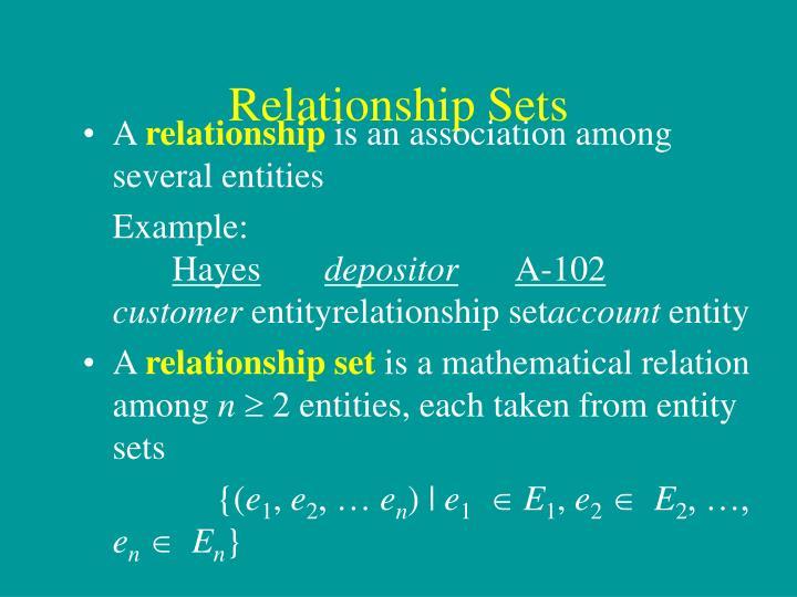 Relationship Sets