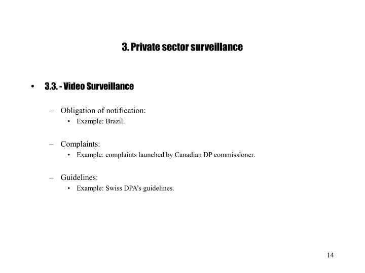 3. Private sector surveillance