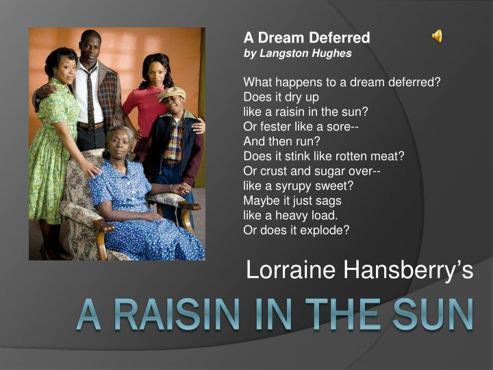 racism and dreams in harlem and a raisin in the sun Harlem rep presents lorraine hansberry's classic play about a working-class african-american family that faces financial salvation or personal ruin after receiving a substantial insurance payment more set in chicago's south side, 'a raisin in the sun' revolves around the divergent dreams and.