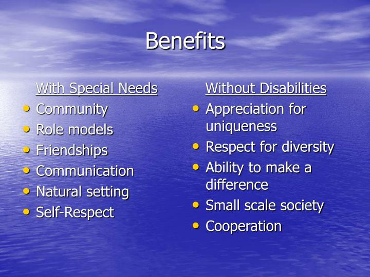 With Special Needs
