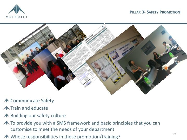 Pillar 3- Safety Promotion
