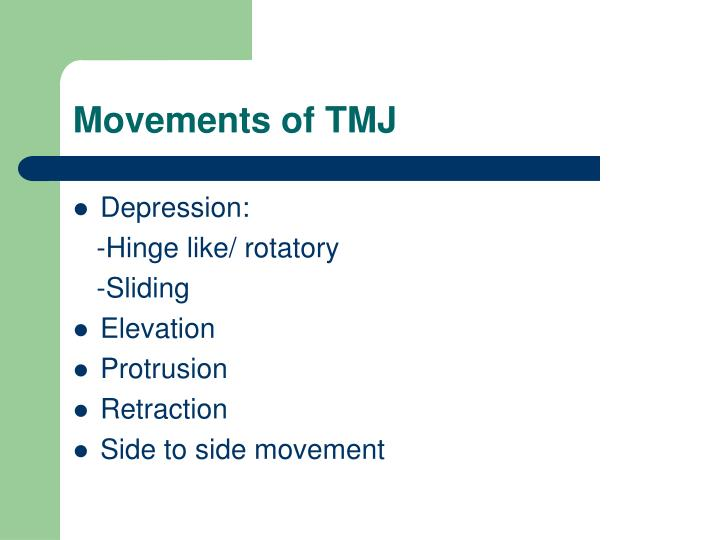 Movements of TMJ