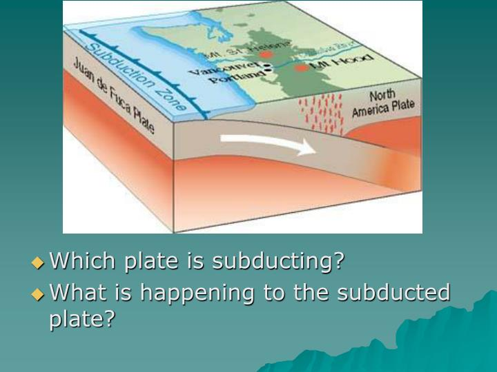 Which plate is subducting?