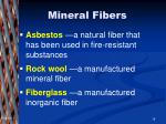 mineral fibers