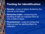 testing for identification1