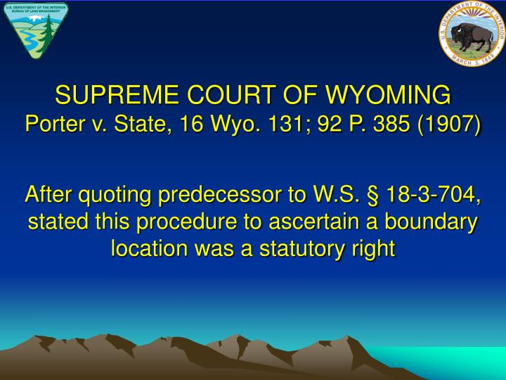 SUPREME COURT OF WYOMING