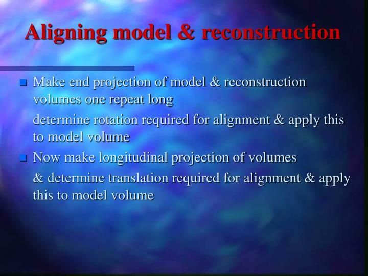 Aligning model & reconstruction