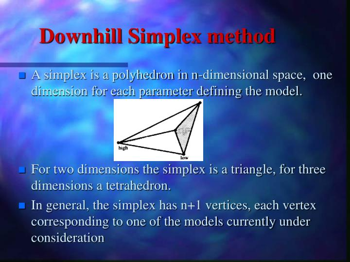 Downhill Simplex method