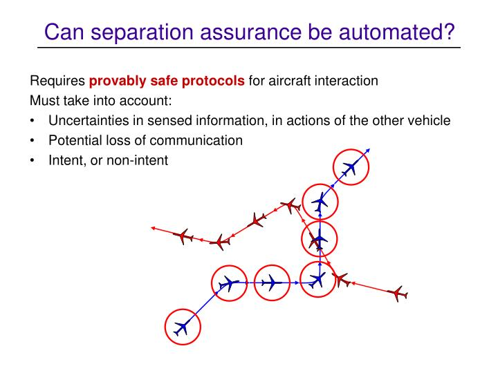 Can separation assurance be automated?