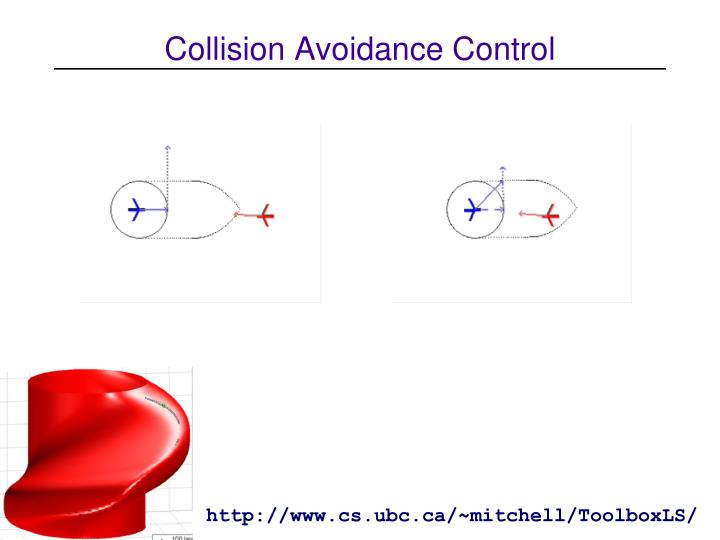 Collision Avoidance Control