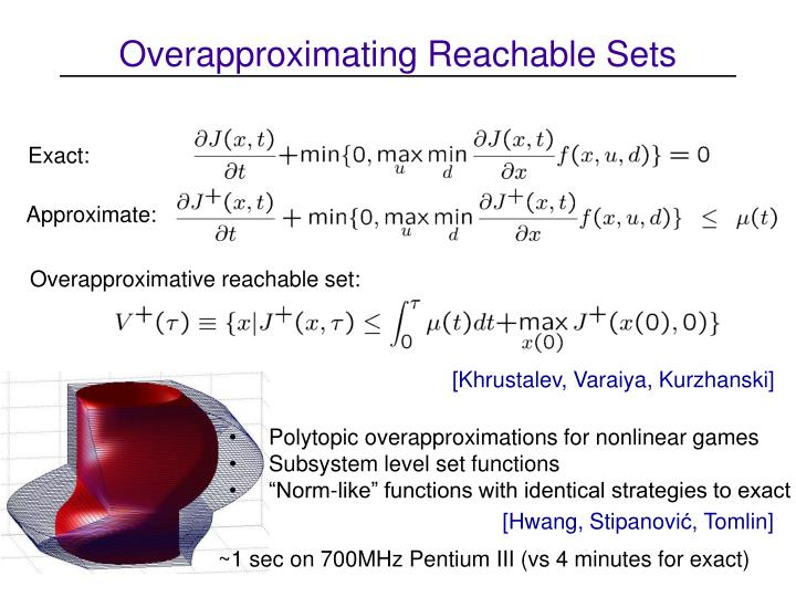Overapproximating Reachable Sets