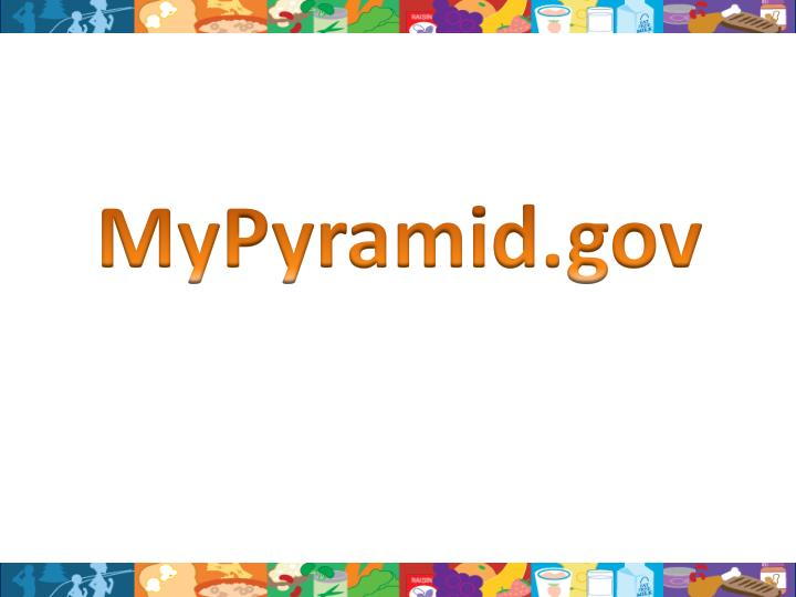 MyPyramid.gov