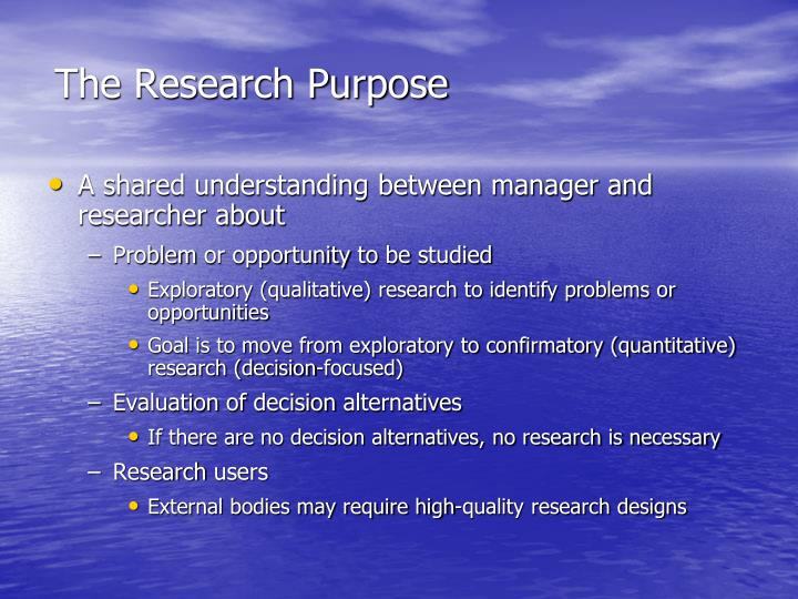 The research purpose
