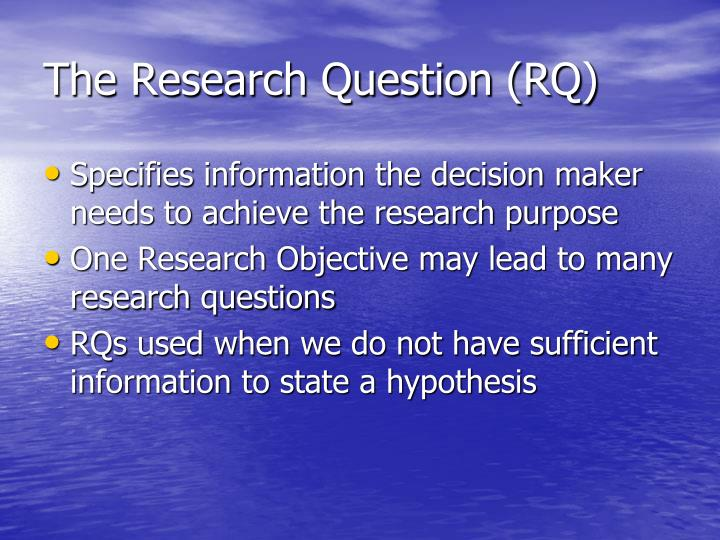 The Research Question (RQ)