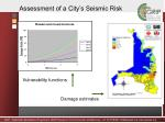 assessment of a city s seismic risk