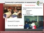 community s participation in assessment1