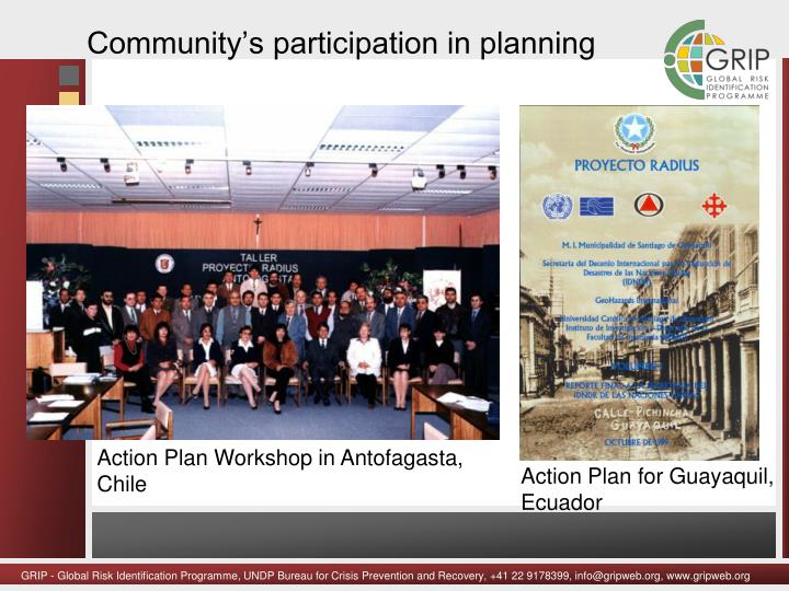 Community's participation in planning