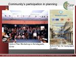 community s participation in planning
