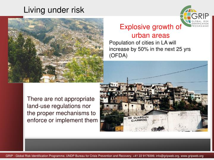 Living under risk