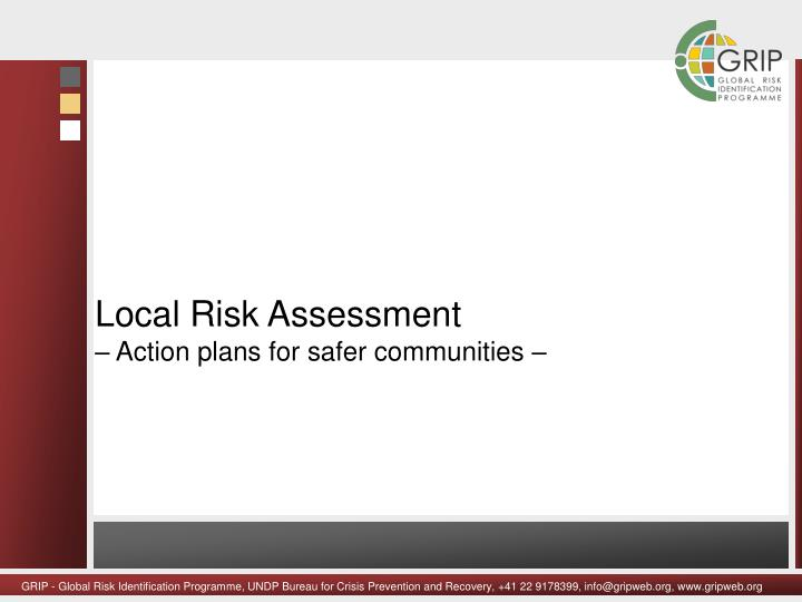 Local Risk Assessment
