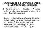 objectives of the new world order committee of 300 illuminati20