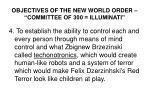 objectives of the new world order committee of 300 illuminati3