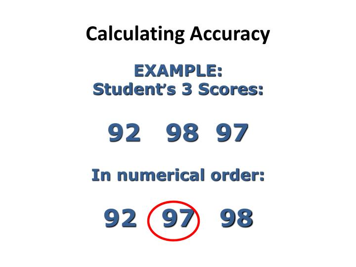 Calculating Accuracy