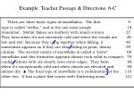 example teacher passage directions 6 c
