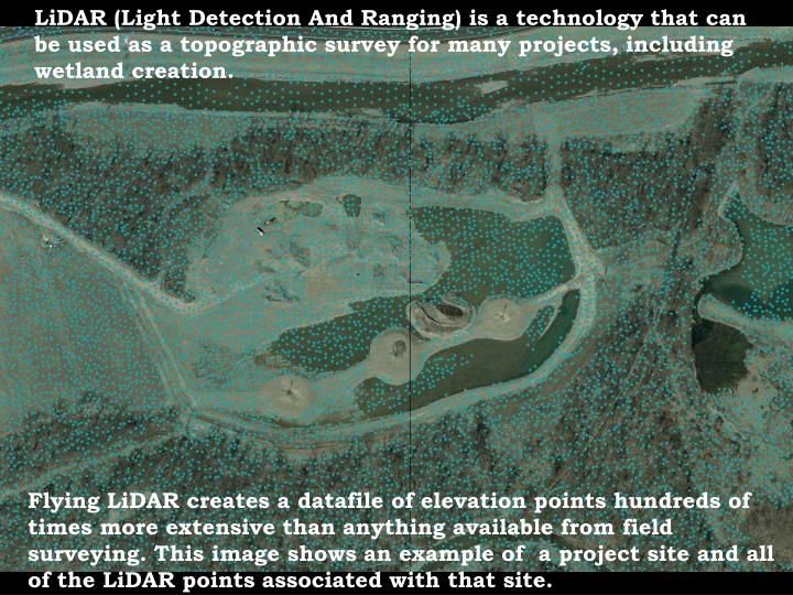 LiDAR (Light Detection And Ranging) is a technology that can be used as a topographic survey for man...