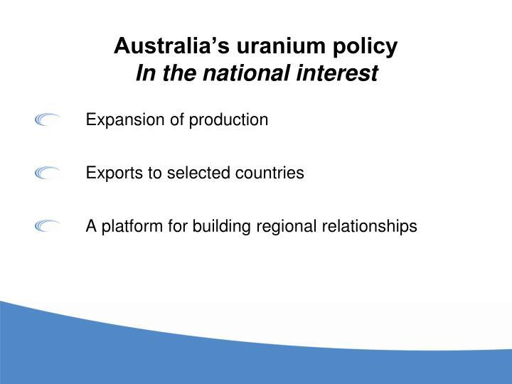 Australia's uranium policy
