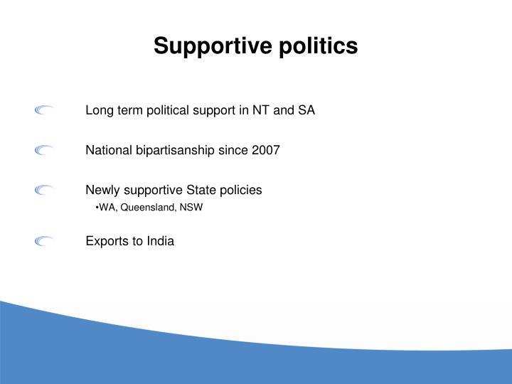 Supportive politics