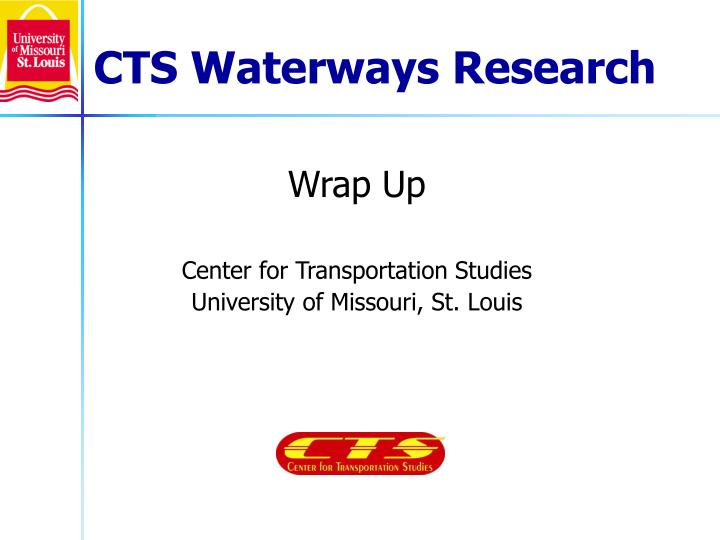 Cts waterways research