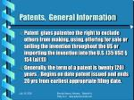 patents general information