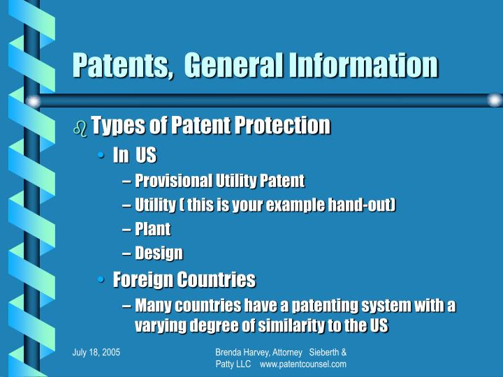 Patents general information1