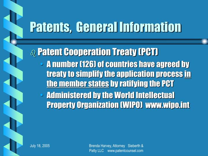 Patents general information2