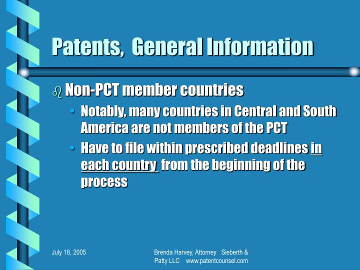 Patents,  General Information