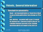 patents general information4