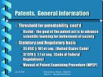 patents general information5