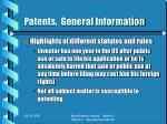 patents general information6