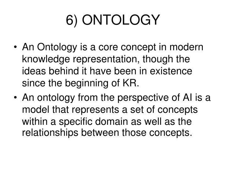6) ONTOLOGY