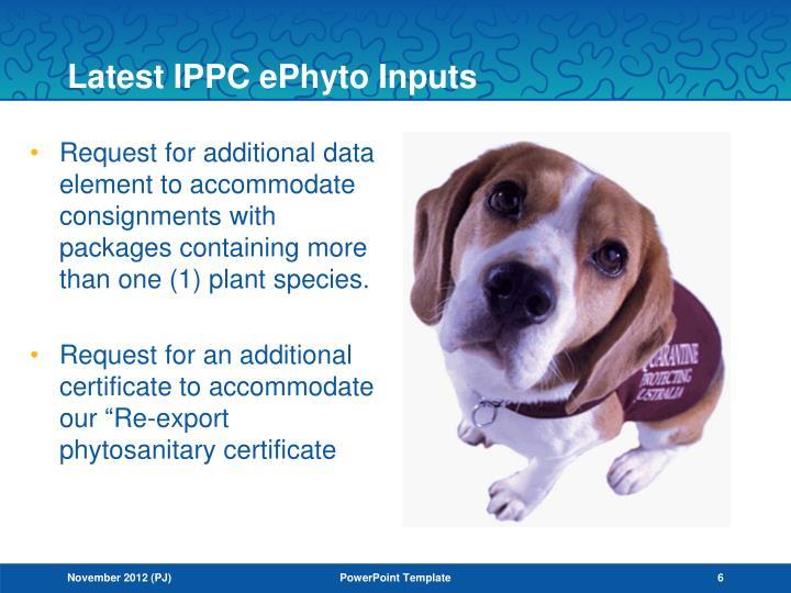 Latest IPPC