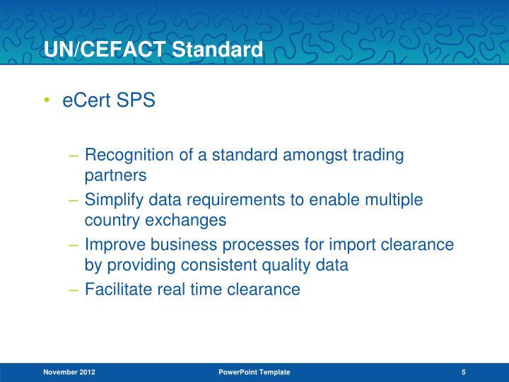 UN/CEFACT Standard