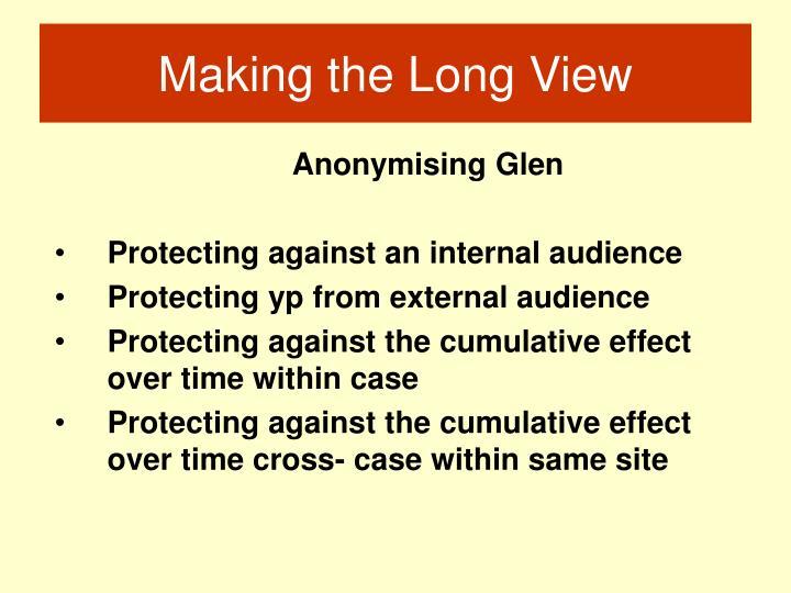 Anonymising Glen