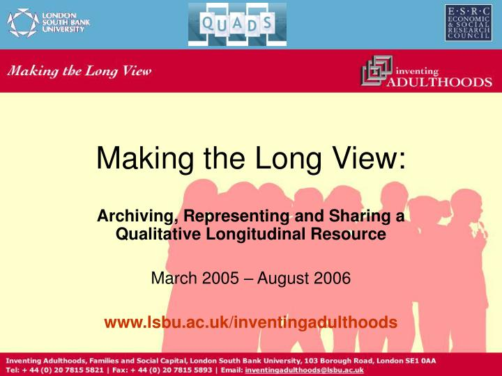 Making the Long View: